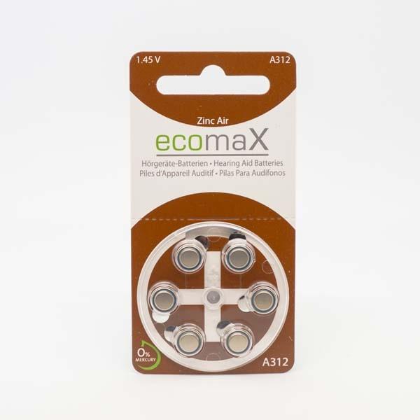 ecomaX A312 Hörgerätebatterien