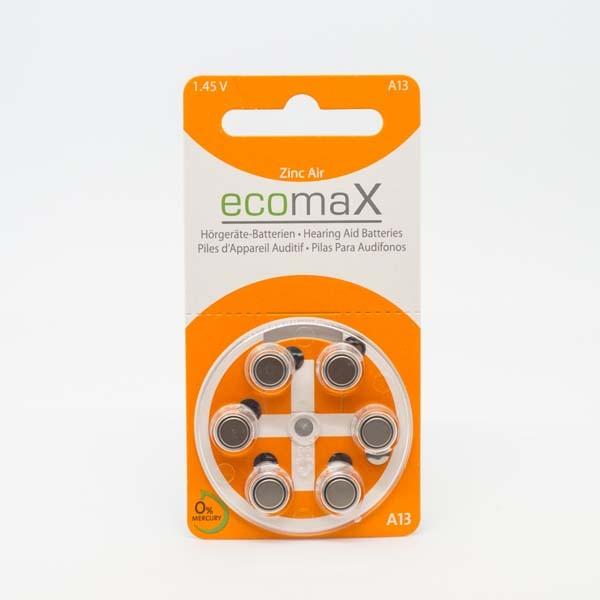 ecomaX A13 Hörgerätebatterien