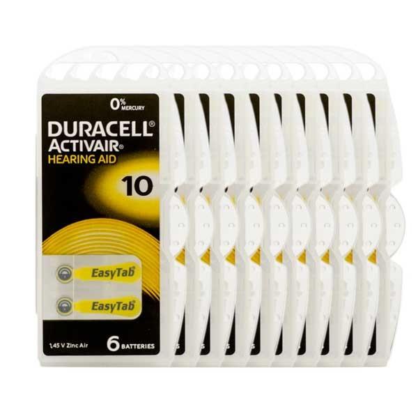 Sparpack 60x Duracell A10 Premium Hörgerätebatterien